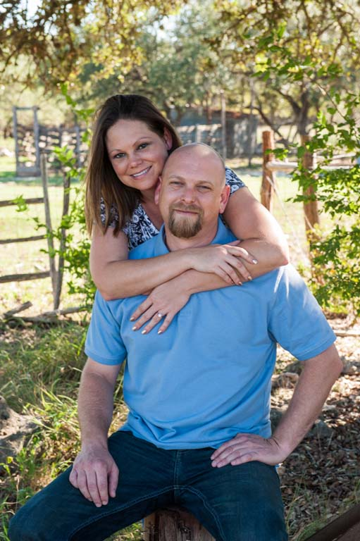 Engagement session on family farm in New Braunfels Texas