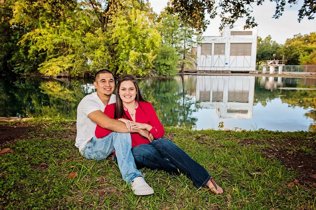 Engagement Session at Landa Park in New Braunfels