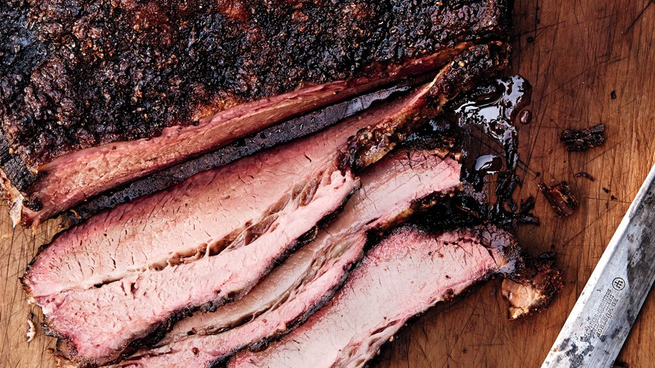 perfect Texas Brisket with smoke ring. Not my photograph