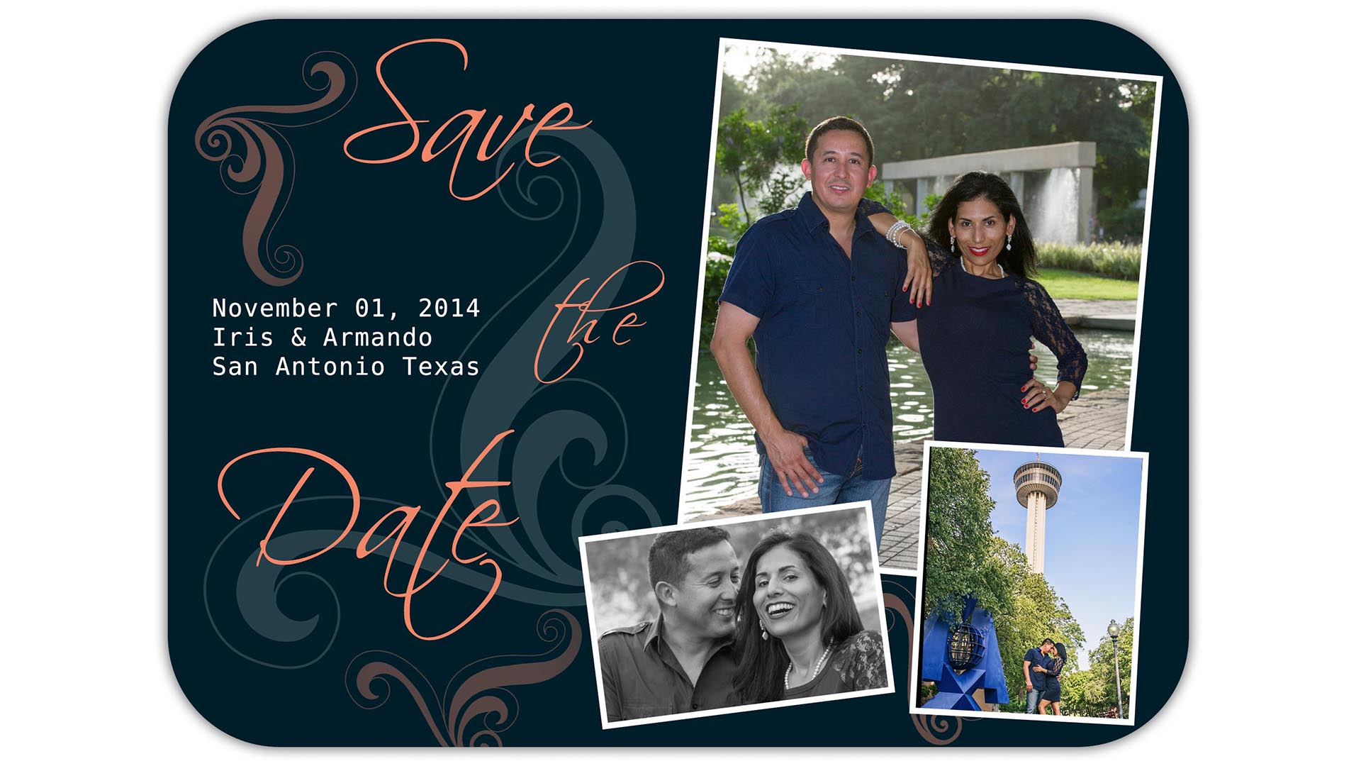 Save the Date card from Hemisfair Park