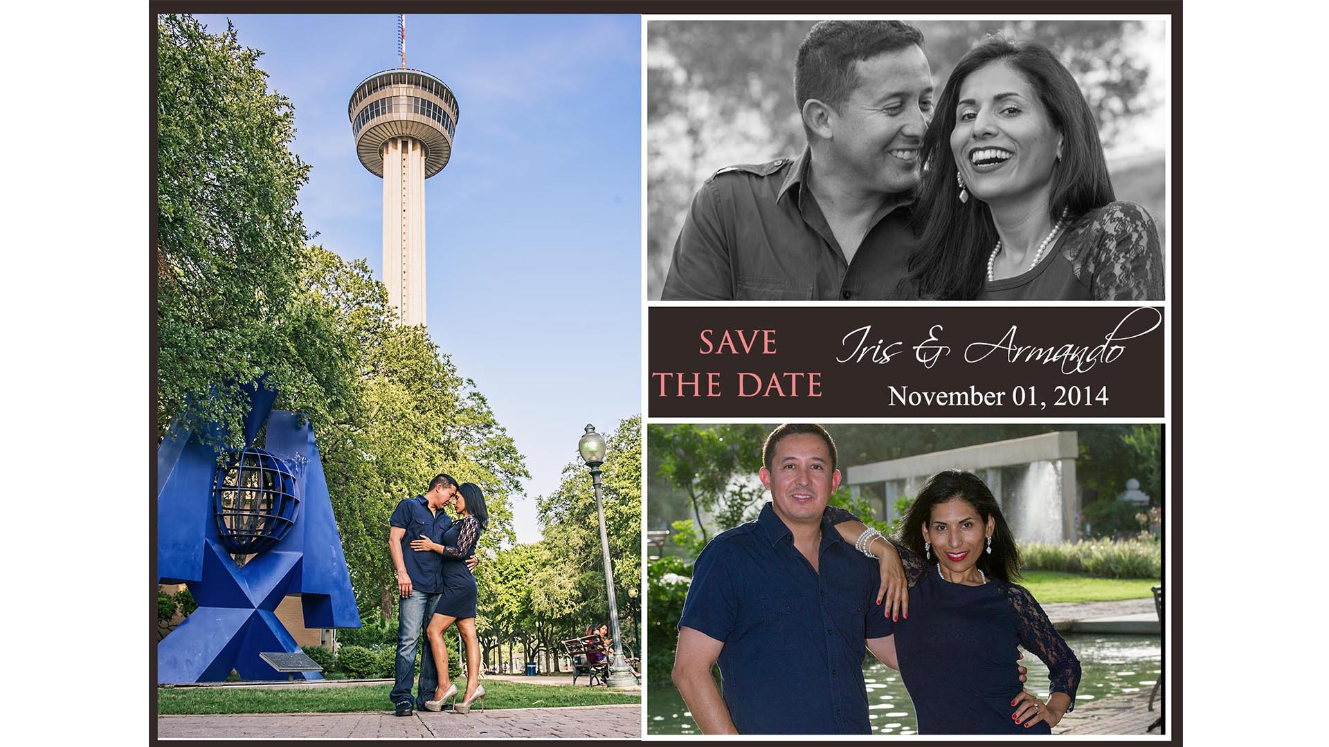 Save the Date Card from San Antonio