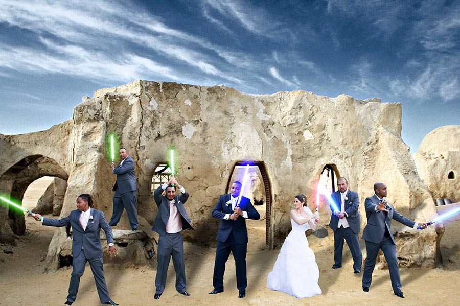 Star Wars Wedding Portrait