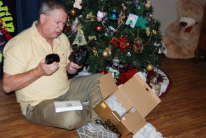 opening new camera for Christmas