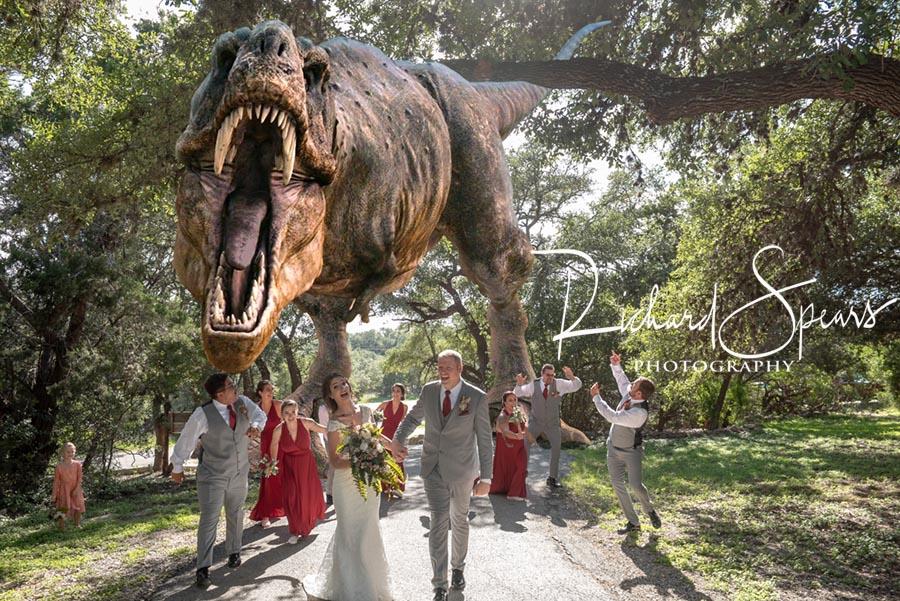 R Spears Photography wedding dinosaur